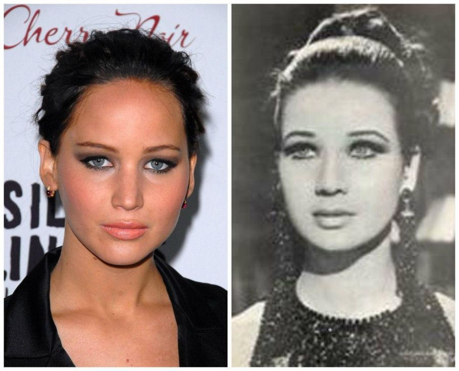 6. As Atrizes E Sósias Jennifer Lawrence E Zubaida Tharwat