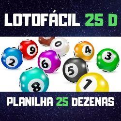 Lotofácil 25 Dezenas